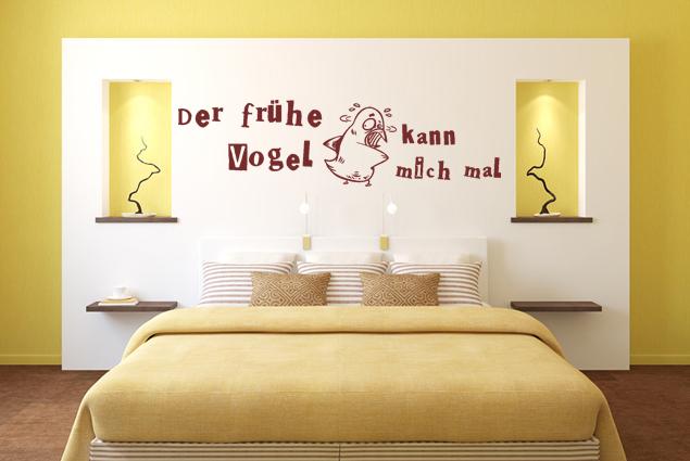 Wandtattoo Der Fruhe Vogel Kann Mich Mal Online Bei Print It All