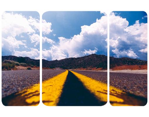 Mehrteilige Bilder Kuche : Wallprint Death Valley Triptychon II S  54cm  36cm online bei Print