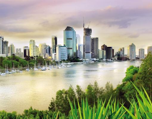 Mehrteilige Bilder Kuche : Wallprint Brisbane S  36cm x 54cm online bei Print It All kaufen