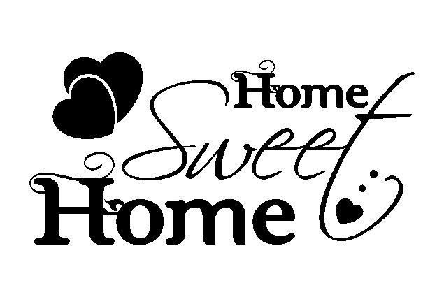 Wandtattoo home sweet home online bei print it all kaufen - Wandtattoo home ...